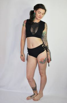 cc9d97ae24ff0 Reversible Corset Lace-Up Bikini Swimsuit Bottoms /Custom Size /30+ Colors  and Prints