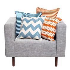 Stripe Pillow 18 Blue