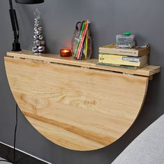 SoBuy Wood Wall-mounted Drop-leaf Table, Balcony table, Folding Dining Table, Desk, 52 x Types Of Furniture, New Furniture, Furniture Making, Natural Furniture, Bedroom Furniture, Small Space Living, Small Spaces, Do It Yourself Camper, Murphy Table