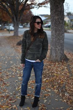 cozy camo - Natalie Dressed
