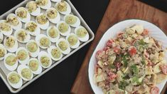 Oeufs farcis et salade piémontaise Pasta Salad, Healthy Recipes, Healthy Food, Salads, Voici, Ethnic Recipes, Isabelle, Desserts, Pickles