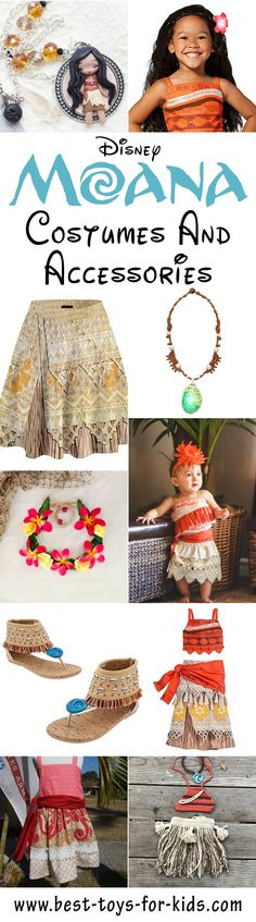 Disney Princess Moana Costumes And Accessories For Dress Up Play And Parties