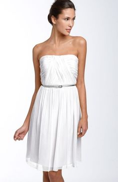 White Bridesmaid Dress
