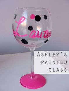 diy painted wine glasses - Google Search