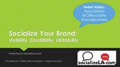 The presentation from my Socialize Your Brand class.  Here's a taste :) socialize-your-brand by Margaret Brown via Slideshare