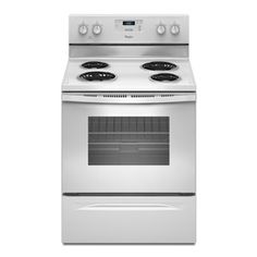 Whirlpool Freestanding 4.8-cu ft Electric Range (White) (Common: 30-in; Actual 29.875-in) Lowes 400