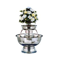 Apex Princess 5 Gallon SS Beverage Fountain with Silver Bow Tie Trim & Floral Cup Fontaine A Punch, Champagne Fountain, Jefferson City Mo, Silver Bow Tie, Wedding Gift Registry, Simply Filling, Good Morning Coffee, Thing 1, Food Service Equipment
