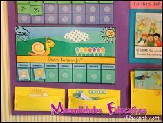 Calendario Educativo - Imprimible Gratis - Creciendo con Montessori Classroom Organization, Classroom Decor, Calendar Time, Class Decoration, Montessori Activities, Circle Time, Learning Resources, First Day Of School, Diy For Kids