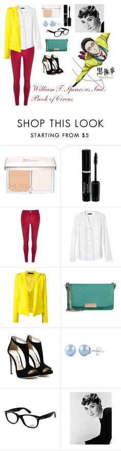 """""""William T. Spears as Suit: Book of Circus"""" by charbear231 ❤ liked on Polyvore featuring Christian Dior, River Island, Banana Republic, Alexandre Vauthier, Burberry and Ray-Ban"""