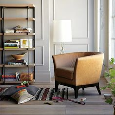Tulip Leather Chair #westelm