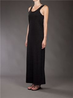 Zoe Tee´S Ash Maxi Dress - Black White Denim - farfetch.com - StyleSays