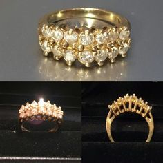 14 kt gold engagement ring with diamonds. Total weight of diamonds 0.88 kt, weight of the ring 4.5 gr, size 15.6 (US 5, UK J1/2). Manufactured in USA at the end of 1980s. Price is 1500 EUR.