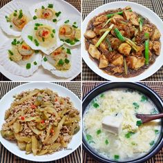 Steamed scallop with vermincelli (蒸带子冬粉) Sweet sauce chicken with vermincelli  (甜酱鸡炒冬粉) Si chuan vegetables with minced meat (四川菜炒肉碎) Egg tofu soup (蛋豆腐汤) .  #sgfood #sg #dinnertime #dinner #homecooked #homemade #steam #scallop #seafood #vermincelli #vegetables #steamed #egg  #vegetables  #veggies #sweetsauce #chicken #mincedmeat #sichuanveg #sichuan #tofu #soup #stirfry #family #loveones  #happy #familymeal  #healthyfood #healthylifestyle #healthy #health