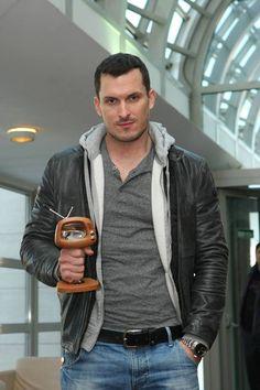 Ján Koleník Tv Show Music, Tv Shows, Leather Jacket, Actors, Film, Jackets, Fashion, Studded Leather Jacket, Movie