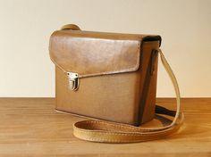 Leather Vintage Camera Bag with Shoulder Strap