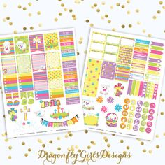 NEW!!! DIY Holy Easter Printable Planner Stickers Mini Kit 125 Stickers pdf 2 jpeg Erin Condren Life Planner Filofax Lamb Cross Religious