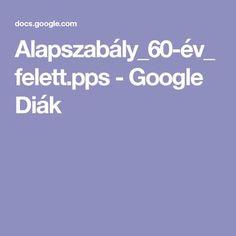 Alapszabály_60-év_felett.pps - Google Diák