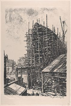 Building a Liner at Greenock (On the Clyde, no. 6) Sir Muirhead Bone