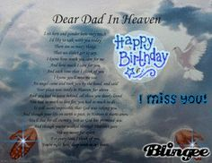 Poem For Dads Birthday In Heaven