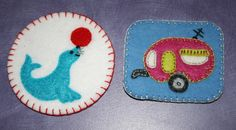 Felt Badges by onegroovyday on Craftster