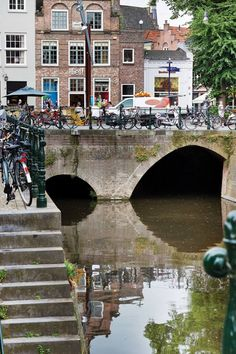 The inner canal of 's-Hertogenbosch, the Binnen-Dieze, runs partly underground, cool to go see!
