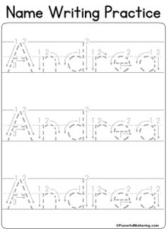 FREE Name Tracing Worksheet Printable + Font Choices | Dry erase ...