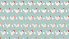 Makower Lila's Kitchen - Hens - Blue by AndSewForthHowden on Etsy