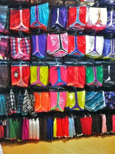 colorful athletic shorts :)