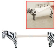 Zebra paper towel holder