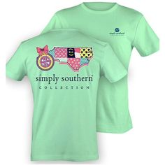 Simply Southern Short Sleeve Printed Tees ($17) ❤ liked on Polyvore featuring tops, t-shirts, shirts, silver, women's clothing, short sleeve t shirts, pattern shirts, unisex shirts, short sleeve print shirt and unisex t shirts