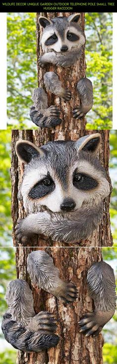 Wildlife Decor Unique Garden Outdoor Telephone Pole Small Tree Hugger Raccoon  #unique #tech #drone #parts #plans #shopping #decor #gadgets #technology #kit #racing #fpv #products #camera #outdoor