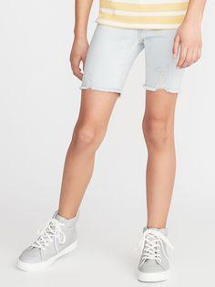 Old Navy Girls' Ballerina Distressed Denim Cut-Offss Quartz Size 16 Old Navy Girls, Denim Cutoffs, Shop Old Navy, Light Denim, Girls Jeans, Cut Off, Distressed Denim, Perfect Fit, White Shorts