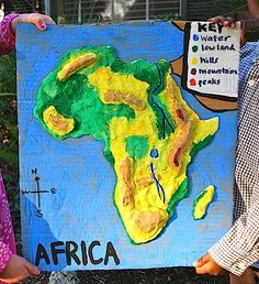 Salt dough maps- to learn geography and landforms.
