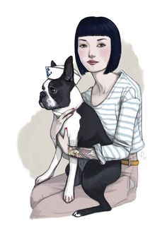 Marvin // Boston Terrier Sailor Print. $15.00, via Etsy.