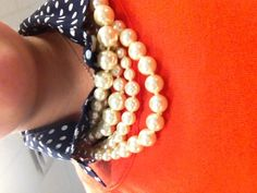 Navy and orange an auburn girl always needs her pearls Preppy Girl, Preppy Look, Preppy Style, Style Me, Auburn University, Auburn Tigers, Southern Dresses, Fashion Accessories, Fashion Jewelry