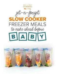 Slow Cooker Freezer Meals Before Baby Slow Cooker Freezer Meals, Easy Freezer Meals, Freezer Recipes, Healthy Sweet Snacks, Nutritious Snacks, Lactation Recipes, Lactation Cookies, Slow Cooker Cashew Chicken, Brownies