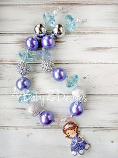 Sofia the First Inspired Chunky Necklace by babyzdesigns