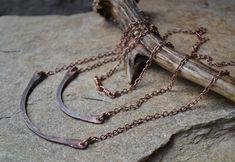 Simple copper necklace minimal necklace by UnicornVibration