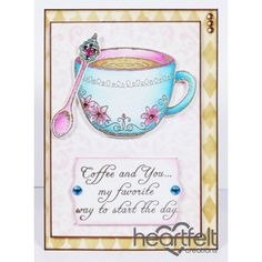 Heartfelt Creations - Pink And Blue Cup And Spoon Project