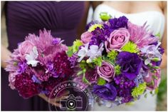 Love all the different shades of purple! wedding-flowers