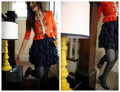 great idea for tops that are too short and i adore the orange and navy!