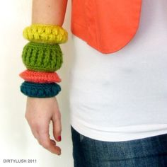 Coral carnival bangles by DirtyLush on Etsy