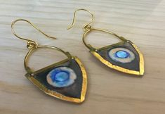 The earrings are handmade painted ,waterproof,made with brass and gold plated hooks Brass Necklace, Antique Earrings, Gold Earrings, Drop Earrings, Unique Necklaces, Antique Gold, Hooks, Plating, Antiques