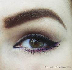 Black And Purple Liner..... Simple and elegant! How to do this though???