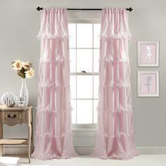 Lush Decor Nerina Ruffled Curtain Panel