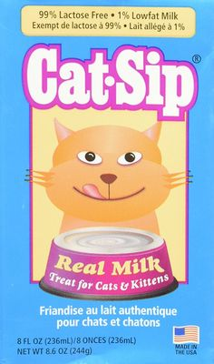 (6 Pack) Cat Sip Real Milk Treat for Cats and Kittens, 8 Ounces each *** More info could be found at the image url. (This is an affiliate link) #CatTreats