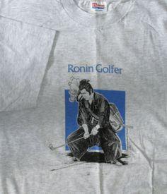 Ronin Golfer Hawaii Cane Haul Road Vintage T-shirt L NWT #HanesHeavyweight #Tshirt #CaneHaulRoadHawaii