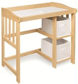 I bet it wouldn't be hard to change an old changing table into a desk