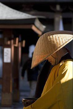 Japanese street monk