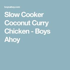 Slow Cooker Coconut Curry Chicken - Boys Ahoy